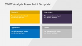 Professional Flat SWOT Analysis Matrix for PowerPoint