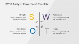 Creative SWOT Axis PowerPoint Slide Design