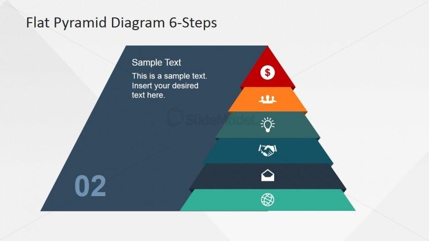 Pyramid Emphasizing Second Layer Icon