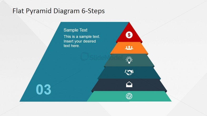 Pyramid Emphasizing 3rd Layer Icon