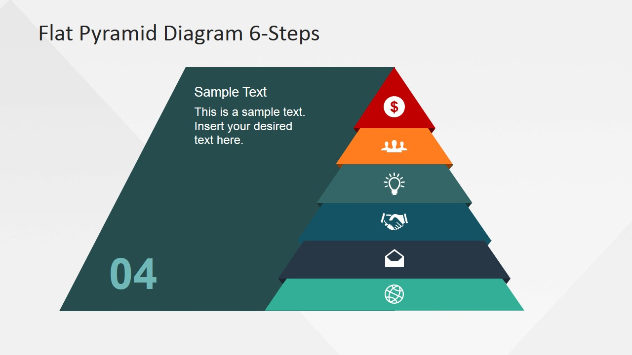 process pyramid with fourth step highlight slidemodel circular flow diagram powerpoint