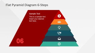 Pyramid Emphasizing Sixth Layer