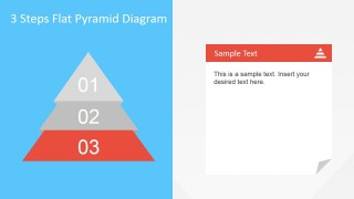 Third Step Described of Flat Pyramid Diagram for PowerPoint