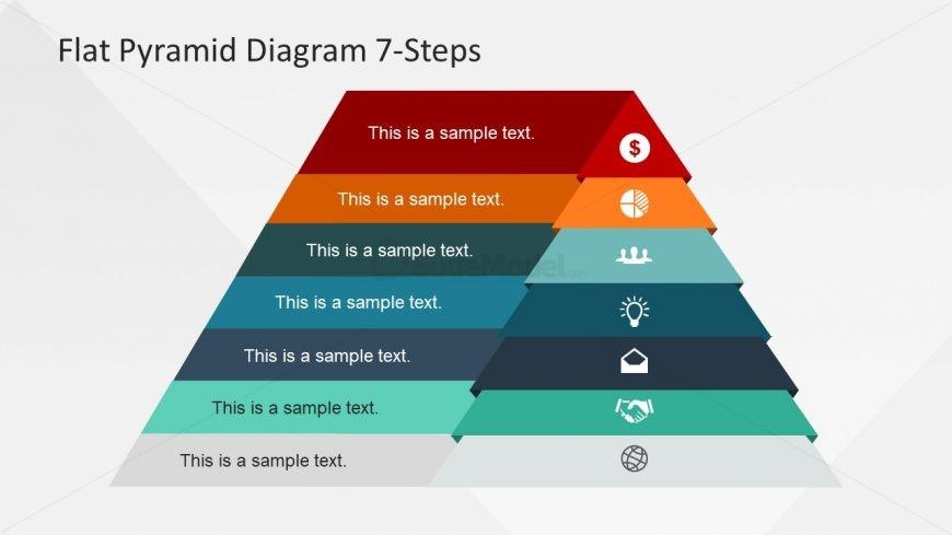 Flat Design of Pyramid Chart