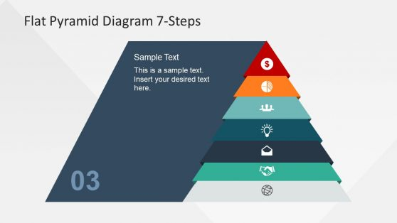 PPT Flat 7 Steps Pyramid