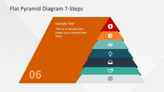 Template of Flat Pyramid Chart Diagram