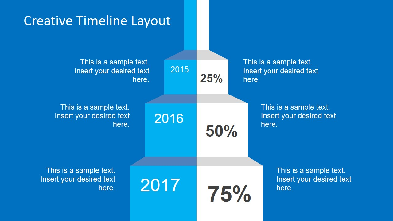 creative timeline layout for powerpoint