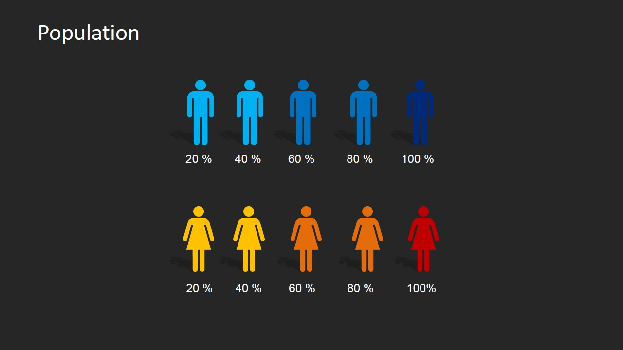 infographics gender icon powerpoint slide