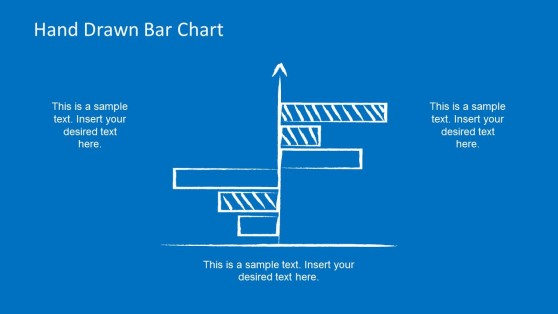 Comparison Hand Drawn Bar Chart for PowerPoint