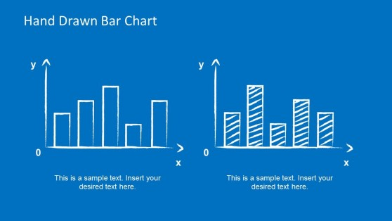 Two Hand Drawn Bar Charts for PowerPoint