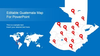 Editable Guatemala PowerPoint Map