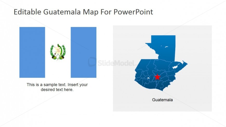 National Flag of Guatemala PowerPoint Template