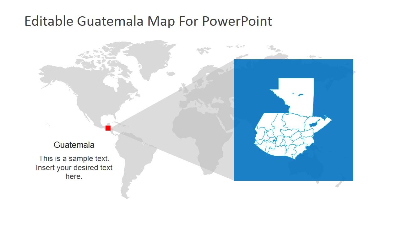 World Map and Guatemala PowerPoint Template SlideModel