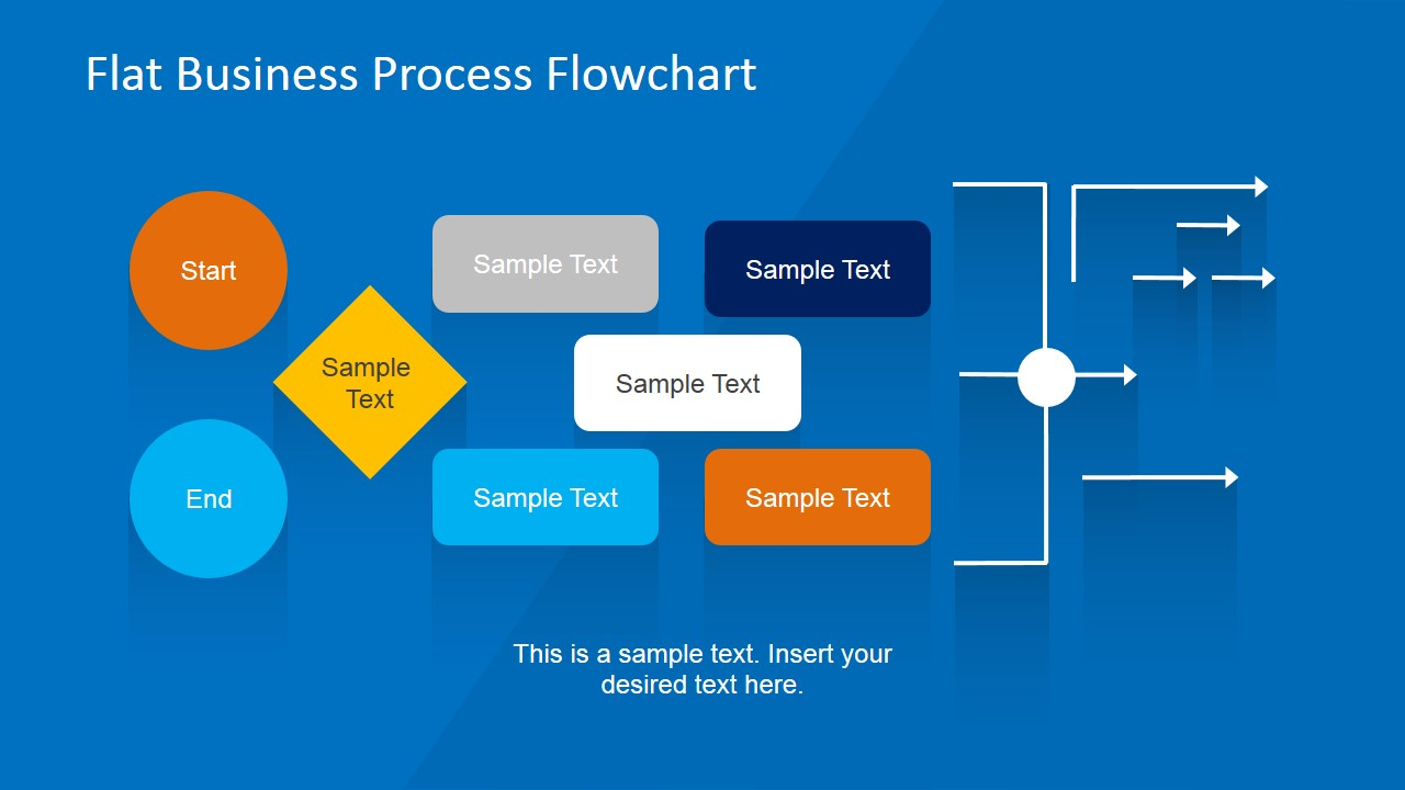 Flat business process flowchart for powerpoint slidemodel flat flowchart design for business presentation workflow business template for powerpoint workflow connectors powerpoint template flashek