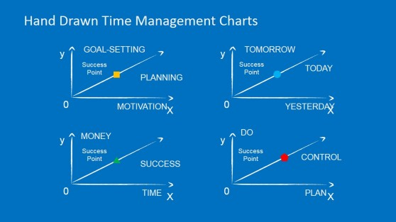 Hand Drawn PowerPoint Lune Charts for Time Management
