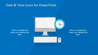 Computer Shape for PowerPoint & Clock