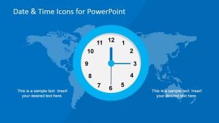 World Map Time Management Slide Design