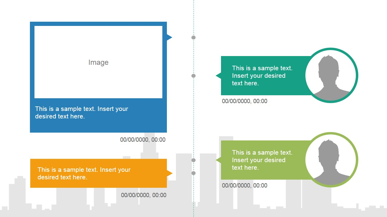 timeline vertical template