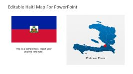 Haiti Flags and Maps PowerPoint Templates