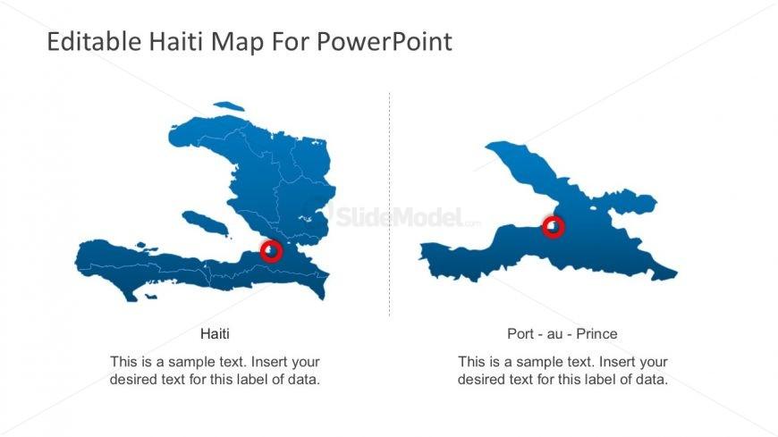 Haiti Political Map for PowerPoint