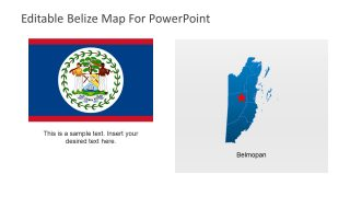Outline Map and Flag of Belize