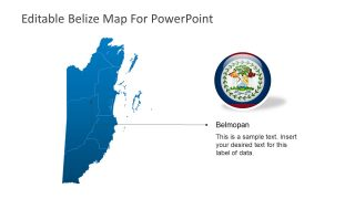 Presentation of County Map Belize