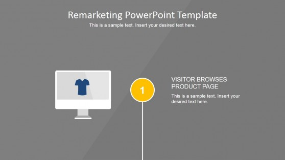 Online Shopping Experience Template Design for PowerPoint