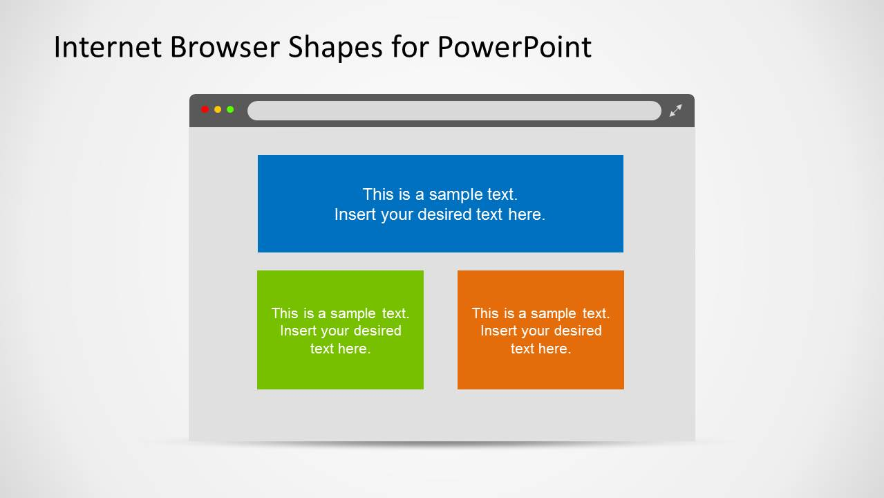 web browser clipart template for powerpoint slidemodel