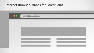 Gray Web Browser Illustration Design