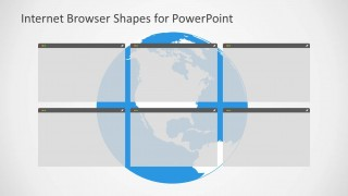 Multiple Web Browsers Illustration for PowerPoint & North America in the Background