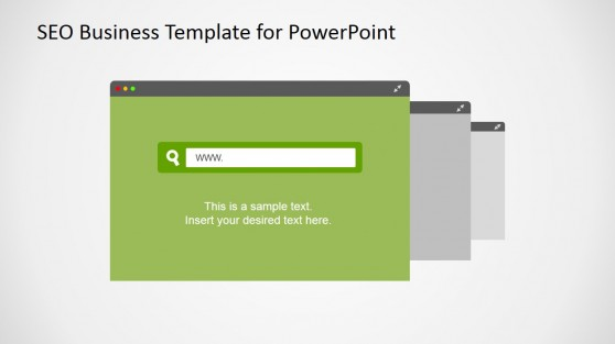 Multiple Web Browser Slide Design for PowerPoint