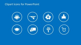Modern Clipart Circular Icons for PowerPoint