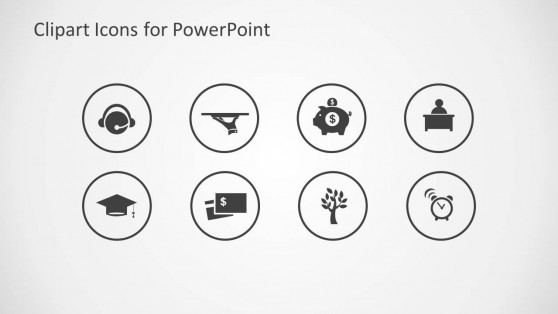 Clipart Icons for PowerPoint Light Gray Background