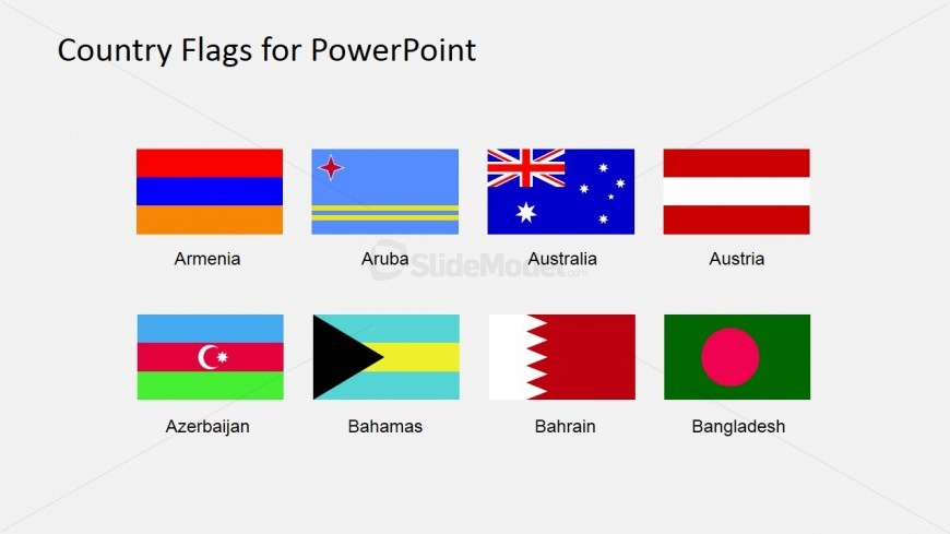 Country Banners on Maps PowerPoint Slide