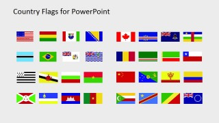 National Flags PowerPoint Slide