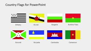 Country per Continent PowerPoint Template