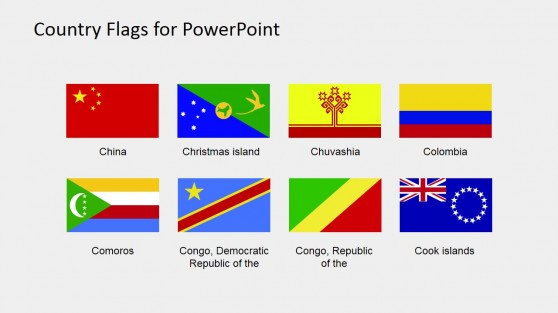 Territory Flags PowerPoint Template