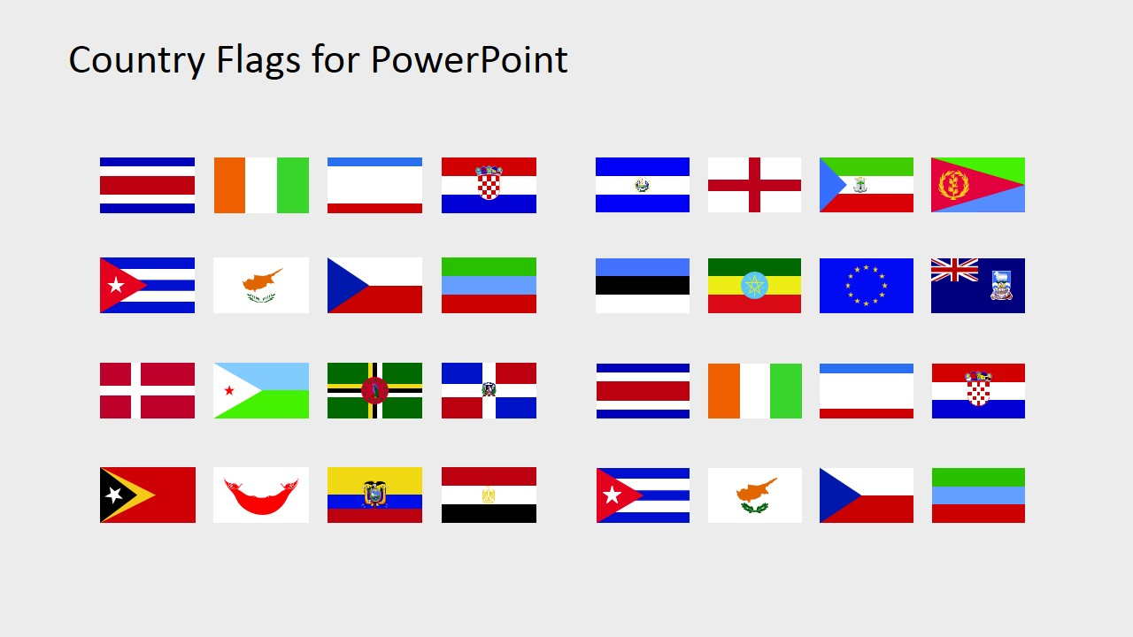 Country Flags Clipart for PowerPoint (C to D) - SlideModel