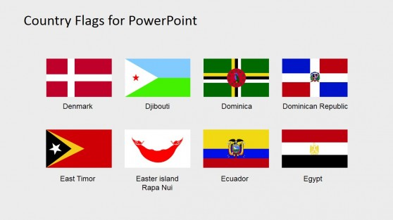 Flags Icons PowerPoint Shapes