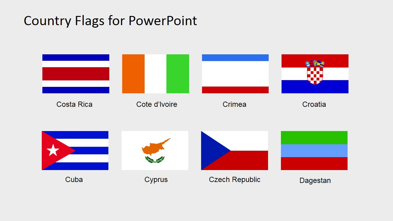 country flags clipart for powerpoint c to d slidemodel