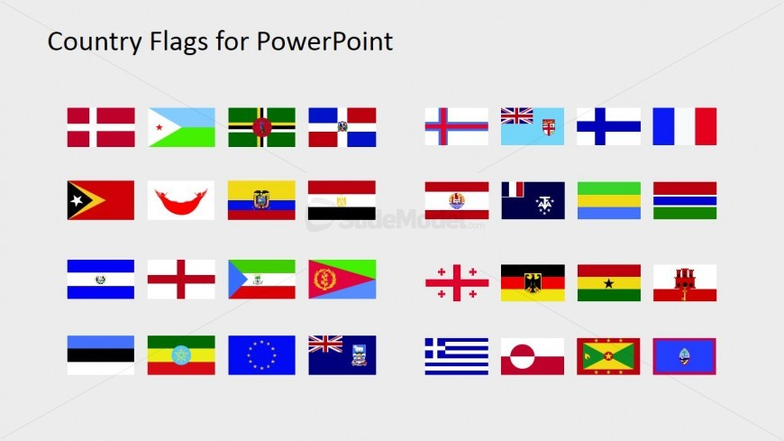 PowerPoint Professional Flag Icons