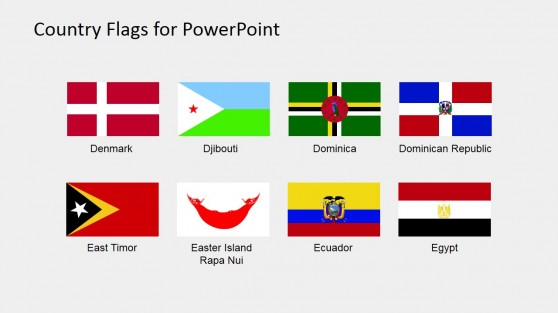 World Flags PowerPoint Icons