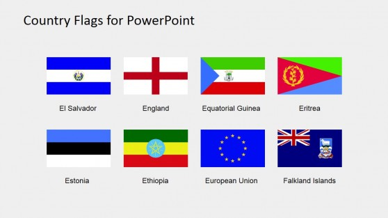 Colorful Flags of the World for PowerPoint