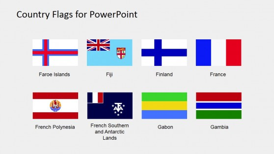 Editable Flags Icons for PowerPoint