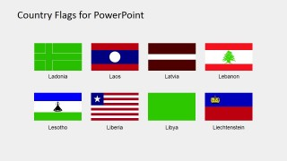 PowerPoint Shapes of Countries National Flags