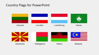 Shapes for PowerPoint of Editable Flags