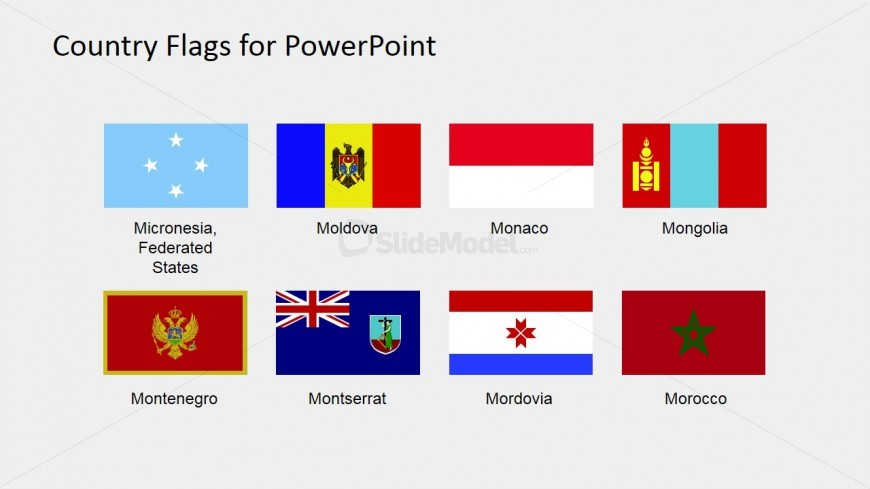 World Flags Vectors for PowerPoint