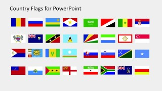 Country Flags Clipart for PowerPoint (R to S)