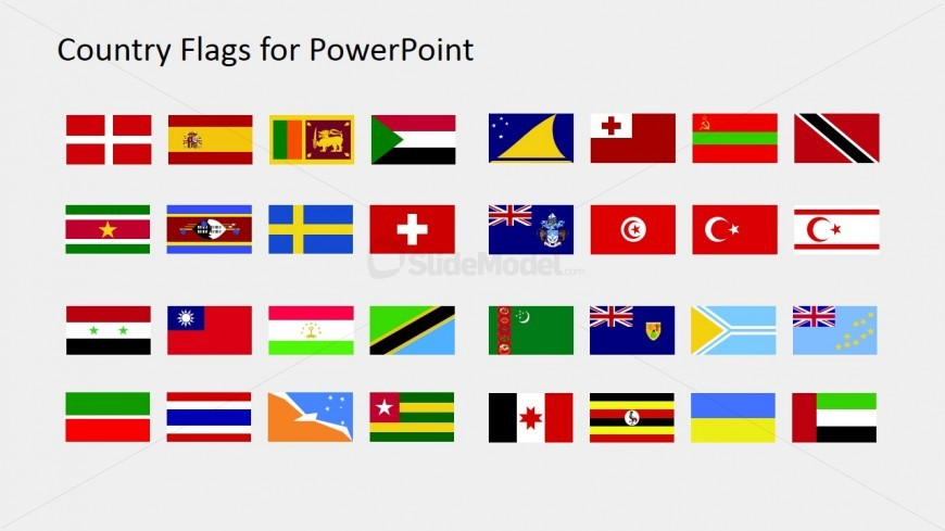 PPT Flag Icons for PowerPoint (S to Z)