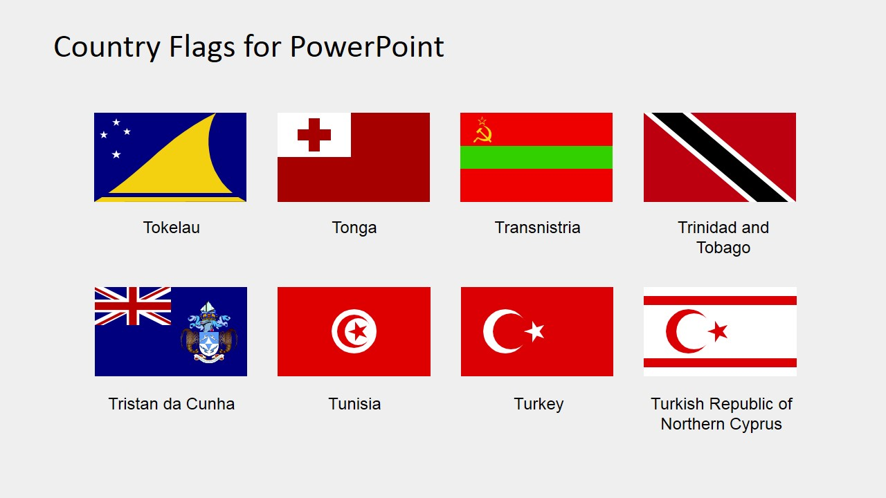 PPT Shapes of Country Flags (S to Z)